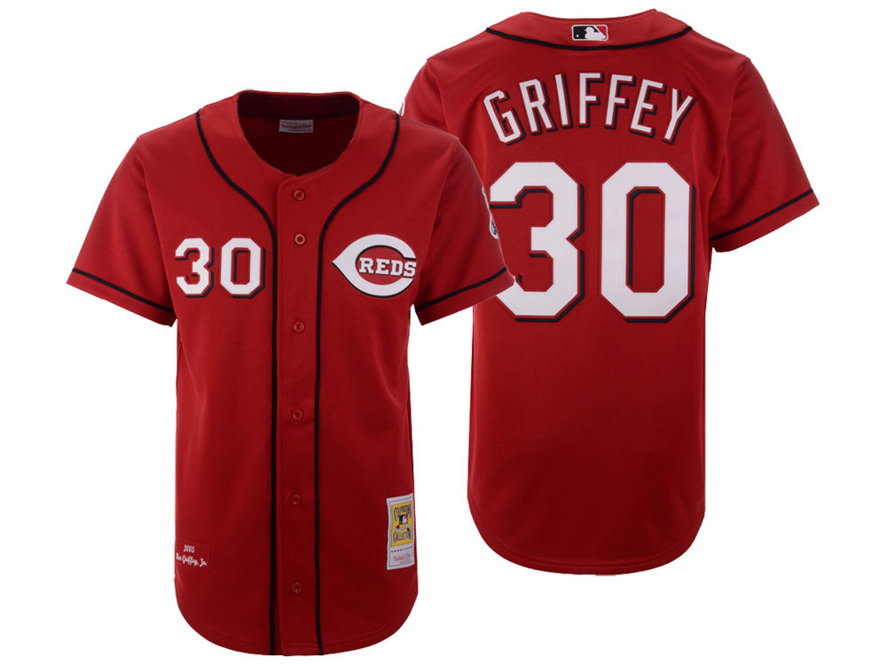 Cincinnati Reds Ken Griffey Mitchell   Ness MLB Men s Authentic Jersey  7053159a9