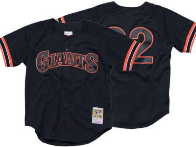San Francisco Giants Will Clark Mitchell & Ness MLB Men's Authentic Mesh Batting Practice V-Neck Jersey