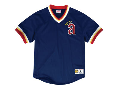 Los Angeles Angels MLB Men's Mesh V-Neck Jersey