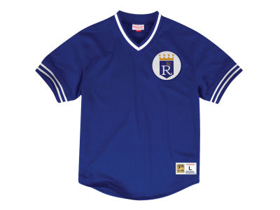 Kansas City Royals Mitchell & Ness MLB Men's Mesh V-Neck Jersey