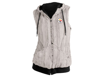 Pittsburgh Steelers Antigua NFL Women's Rant Fur Vest
