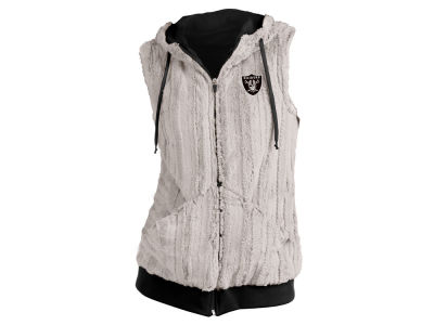 Oakland Raiders Antigua NFL Women's Rant Fur Vest