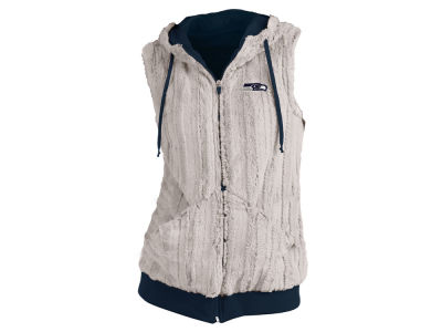 Seattle Seahawks Antigua NFL Women's Rant Fur Vest