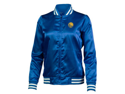 Golden State Warriors Antigua NBA Women's Strut Satin Bomber Jacket