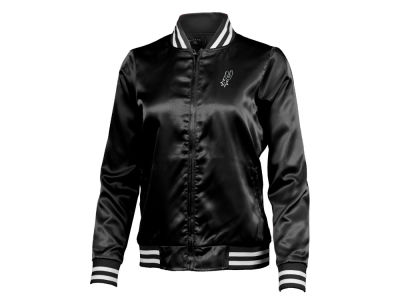 San Antonio Spurs Antigua NBA Women's Strut Satin Bomber Jacket