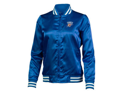 Oklahoma City Thunder Antigua NBA Women's Strut Satin Bomber Jacket