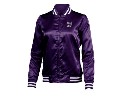 Sacramento Kings Antigua NBA Women's Strut Satin Bomber Jacket