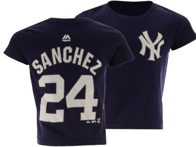 New York Yankees Gary Sanchez Majestic MLB Toddler Official Player T-Shirt