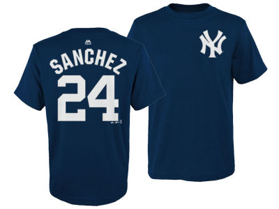 New York Yankees Gary Sanchez Majestic MLB Kids Official Player T-Shirt
