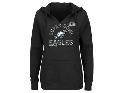 Philadelphia Eagles NFL Women's Super Bowl LII Bound Foil Hoodie