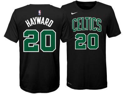 Boston Celtics Gordon Hayward Nike NBA Youth Statement Name and Number T- shirt ea2a8c200
