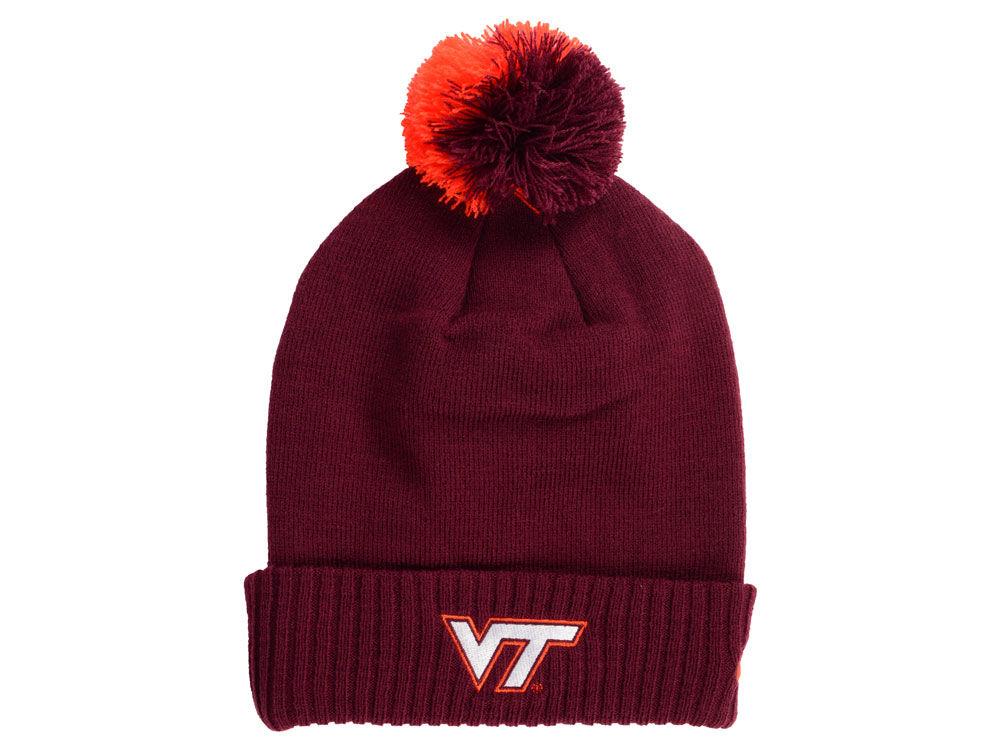 Virginia Tech Hokies Nike NCAA Beanie Sideline Pom  ecad4134ba0