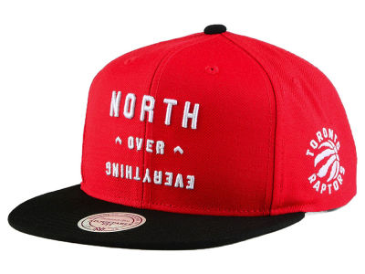 Toronto Raptors Mitchell & Ness NBA North Over Everything Snapback Cap