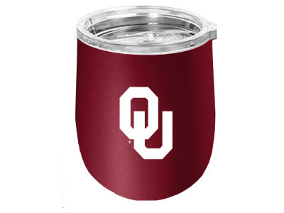 Oklahoma Sooners Stainless Steel Stemless Wine Glass