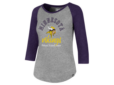 Minnesota Vikings '47 NFL Women's Script Club Raglan T-shirt