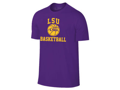 LSU Tigers The Victory NCAA Men's Arch & Logo Basketball T-Shirt