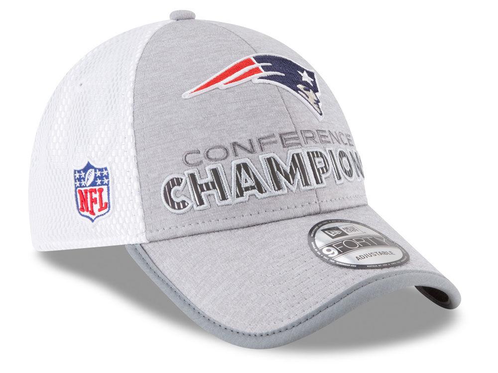 New England Patriots New Era NFL Super Bowl LII Conference Champ Locker  Room 9FORTY Cap  429d76f77