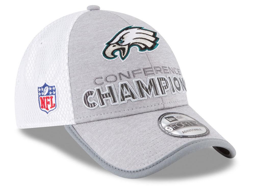 Philadelphia Eagles New Era NFL Super Bowl LII Conference Champ Locker Room  9FORTY Cap  7dfe87bf8
