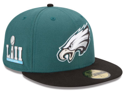 Philadelphia Eagles New Era NFL Super Bowl LII Team Basic Patch 59FIFTY Cap