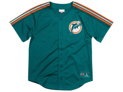 Miami Dolphins Mitchell & Ness NFL Men's Winning Team Mesh Button Front Jersey