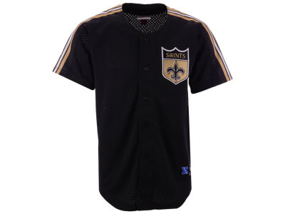 New Orleans Saints Mitchell & Ness NFL Men's Winning Team Mesh Button Front Jersey