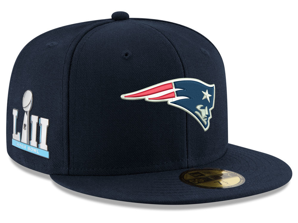 New England Patriots New Era NFL Super Bowl LII Team Basic Patch 59FIFTY Cap   b13a02f13