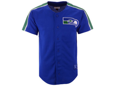 Seattle Seahawks Mitchell & Ness NFL Men's Winning Team Mesh Button Front Jersey