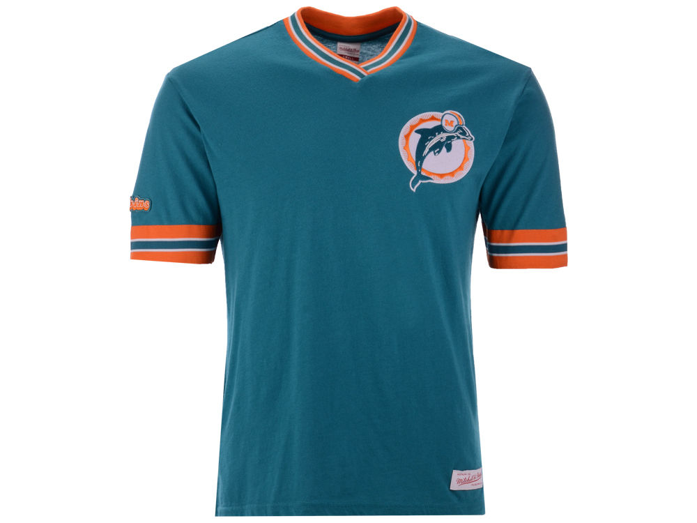 Miami Dolphins Mitchell   Ness NFL Men s Overtime Win Vintage T-Shirt  01d82b423