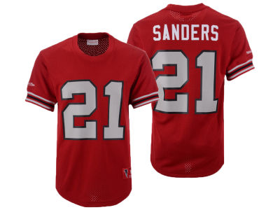 Atlanta Falcons Deion Sanders Mitchell & Ness NFL Men's Mesh Name and Number Crewneck Jersey