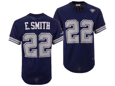 Dallas Cowboys Emmitt Smith Mitchell   Ness NFL Men s Mesh Name and Number  Crewneck Jersey 045650ba5