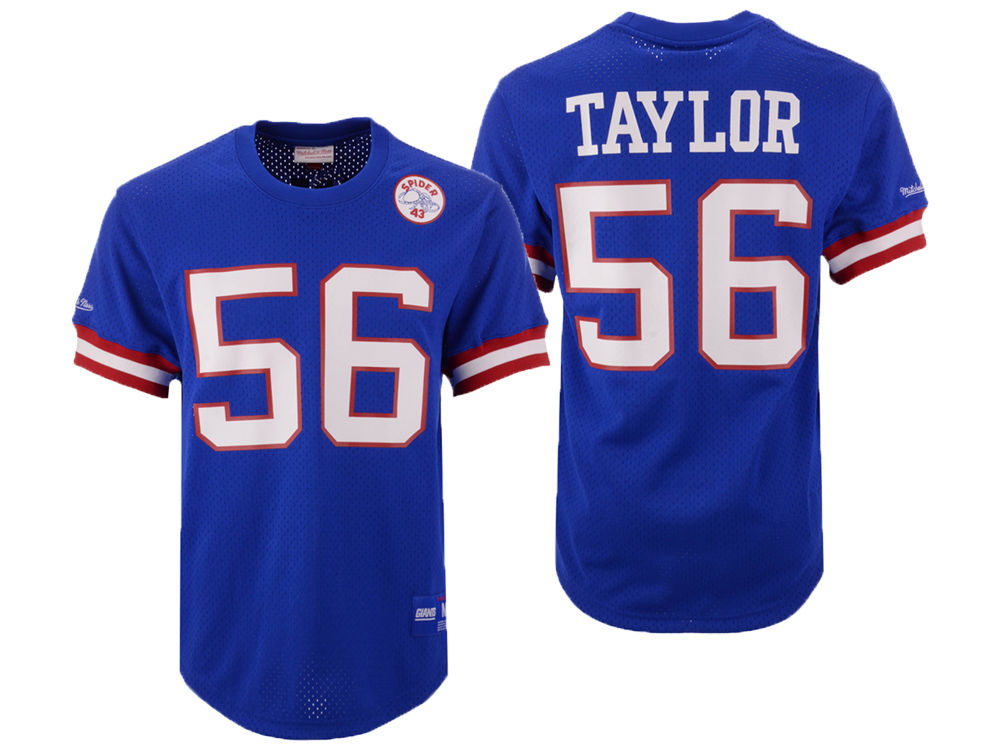New York Giants Lawrence Taylor Mitchell   Ness NFL Men s Mesh Name and Number  Crewneck Jersey  14d734705