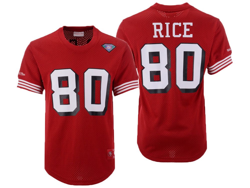 separation shoes cd374 df6a7 promo code for red jerry rice jersey 80 nike nfl name number ...