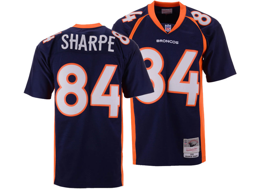 Denver Broncos Shannon Sharpe Mitchell   Ness NFL Replica Throwback Jersey   26cc1dd49