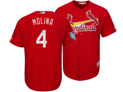 St. Louis Cardinals Yadier Molina 2018 MLB Men's Spring Training Patch Replica Cool Base Jersey