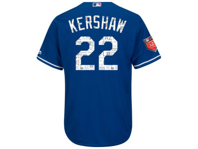 Los Angeles Dodgers Clayton Kershaw 2018 MLB Men's Spring Training Patch Replica Cool Base Jersey