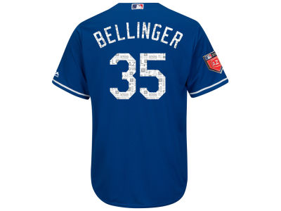 Los Angeles Dodgers Cody Bellinger 2018 MLB Men's Spring Training Patch Replica Cool Base Jersey