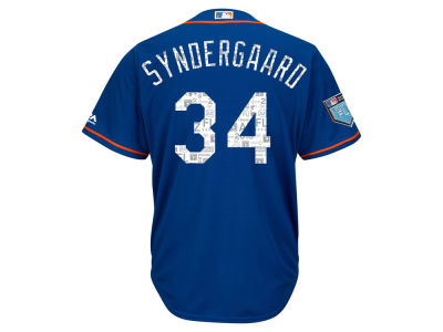 New York Mets Noah Syndergaard 2018 MLB Men's Spring Training Patch Replica Cool Base Jersey