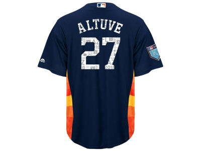 Houston Astros Jose Altuve 2018 MLB Men's Spring Training Patch Replica Cool Base Jersey