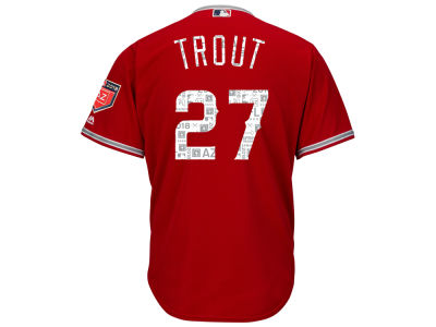 Los Angeles Angels Mike Trout Majestic 2018 MLB Men's Spring Training Patch Replica Cool Base Jersey