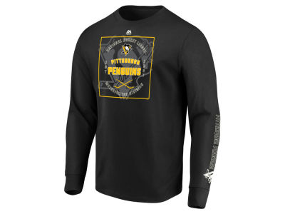 Pittsburgh Penguins Majestic NHL Men's Keep Score Long Sleeve T-Shirt