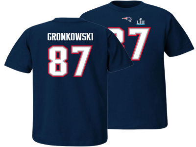 New England Patriots Rob Gronkowski NFL Youth Super Bowl Bound Name and Number T-Shirt