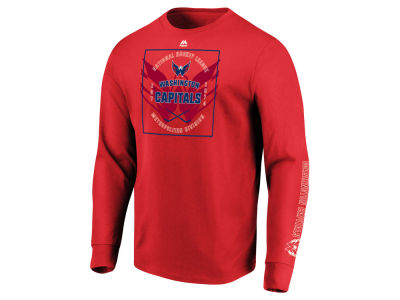 Washington Capitals Majestic NHL Men's Keep Score Long Sleeve T-Shirt