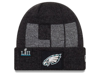 Philadelphia Eagles New Era NFL Super Bowl LII Participant Cuff Knit