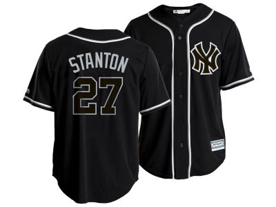 New York Yankees Giancarlo Stanton Majestic MLB Men's Pitch Black Jersey