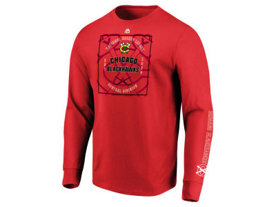 672176a0dc1 Chicago Blackhawks Majestic NHL Men s Keep Score Long Sleeve T-Shirt