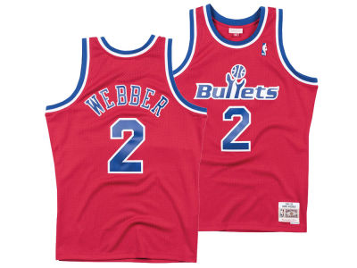 Washington Bullets Chris Webber Mitchell & Ness NBA Men's Hardwood Classic Swingman Jersey
