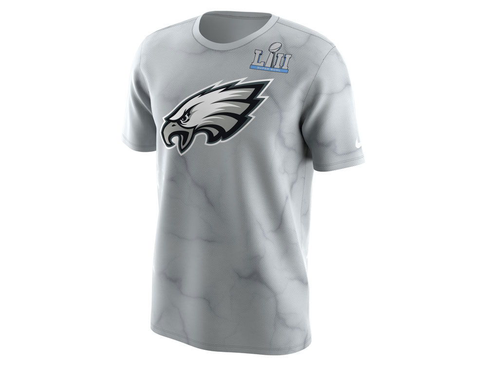 Philadelphia Eagles Nike NFL Men s Super Bowl LII Media Night Dri-Fit T- Shirt  7f0c5a496