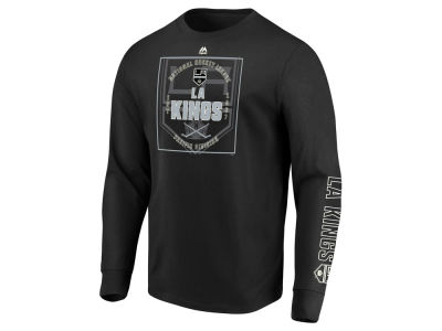 Los Angeles Kings Majestic NHL Men's Keep Score Long Sleeve T-Shirt