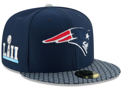 New England Patriots New Era NFL Super Bowl LII On-Field Sideline Patch 59FIFTY Cap
