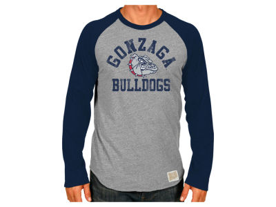 Gonzaga Bulldogs Retro Brand NCAA Men's Team Logo Long Sleeve Raglan T-Shirt